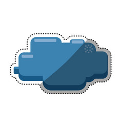cloud pixelated videogame vector image