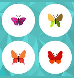 Flat butterfly set of beauty fly archippus vector