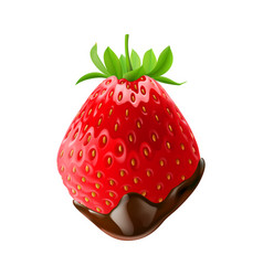 Sweet strawberries vector