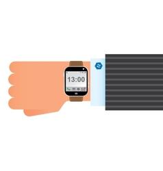 Wristwatch smart clock vector