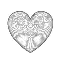 Heart icon hand drawn like fingerprint print vector