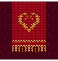 Color Knitted Wool Heart vector image
