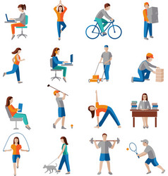 Physical activity icons vector