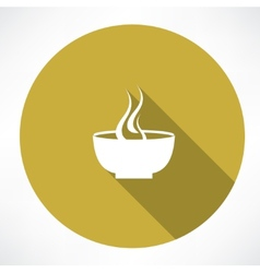 Hot plate icon vector
