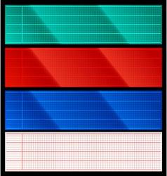 Set of cardio scanner grids vector image