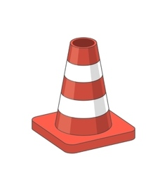 Road traffic plastic cone vector