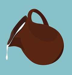 Pouring milk vector