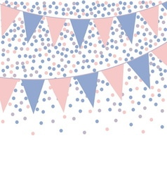 Rose quartz and serenity bunting background with vector image