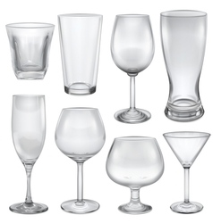 Opaque empty glasses vector