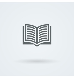 Simple open book icon vector