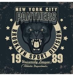 Panter Sport t-shirt graphics vector image