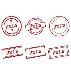 Help stamps vector
