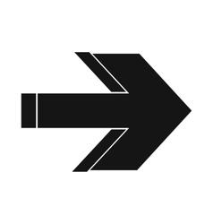 Arrow icon simple style vector