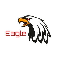 Bald Eagle crying emblem vector image vector image