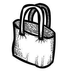 Cartoon image of shopping bag vector