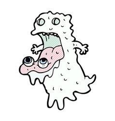 Comic cartoon gross ghost vector