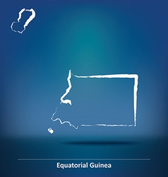 Doodle map of equatorial guinea vector