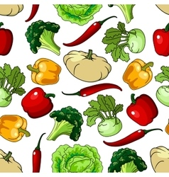 Farm healthy vegetables seamless pattern vector