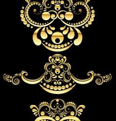 Golden Floral Ornament3 vector image vector image