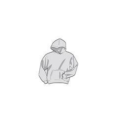 Grey hoodie vector