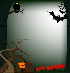 Hallowen woods vector