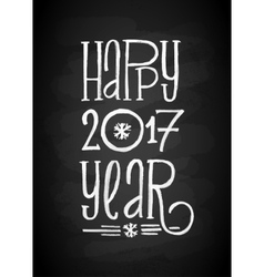 Happy new year chalk board lettering letters vector