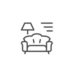 interior line icon vector image
