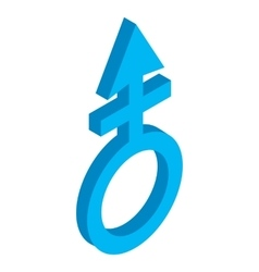 Male symbol isometric 3d icon vector
