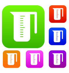 Measuring cup set collection vector