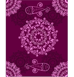 Ornament purple abstract vector image vector image