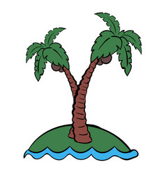 Palm tree icon cartoon vector
