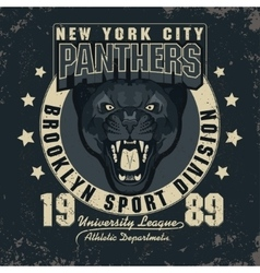 Panter Sport t-shirt graphics vector image vector image