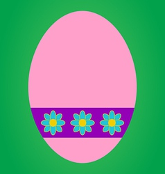 Pink easter egg vector image