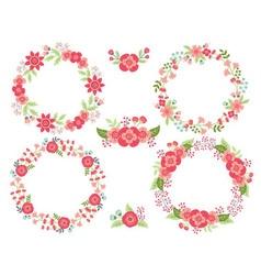 Pink Wreath Set vector image vector image
