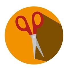 Scissors school supply icon vector