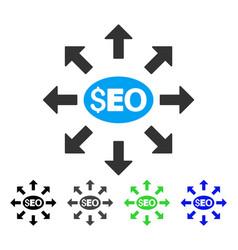 Seo distribution flat icon vector