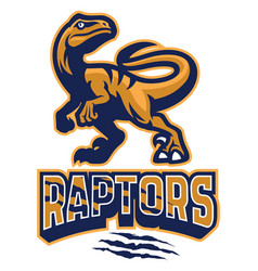 set of raptor mascot vector image