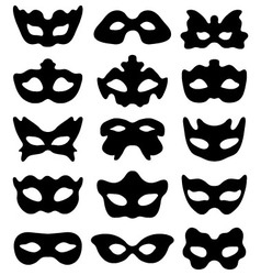 silhouette of festive masks i vector image vector image
