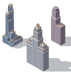 skyscraper set 2 vector image vector image