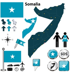 Somalia map vector image
