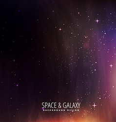 Space and universe stars background vector