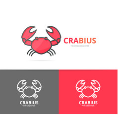 unique seafood and crab logo design template vector image