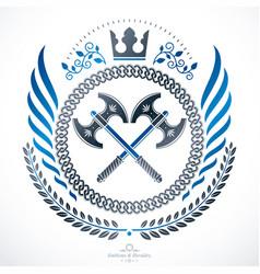 Classy emblem heraldic coat of arms vector