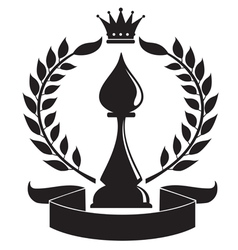 chess bishop vector image