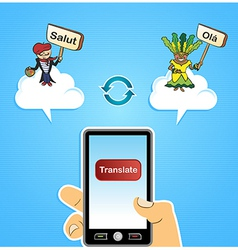 Mobile web translate app concept vector