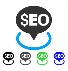 Seo geotargeting flat icon vector