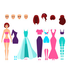 Singer or actress set of character creation vector