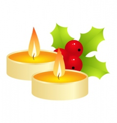 gold candle vector image