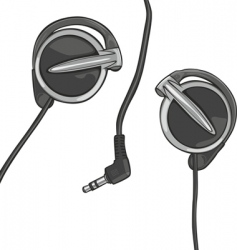 earphones vector image