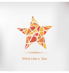 Shine like a star handdrawn star element vector